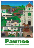 Parks and Recreation Pawnee Indiana Print Poster