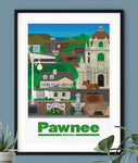Parks and Recreation Pawnee Indiana Print Poster Parks and Rec