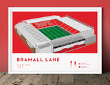 Football stadium ground print art poster Sheffield United SUFC Bramall Lane