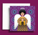 Black Christmas cards | Ethnic Christmas Cards | African Christmas Cards | Black african angel