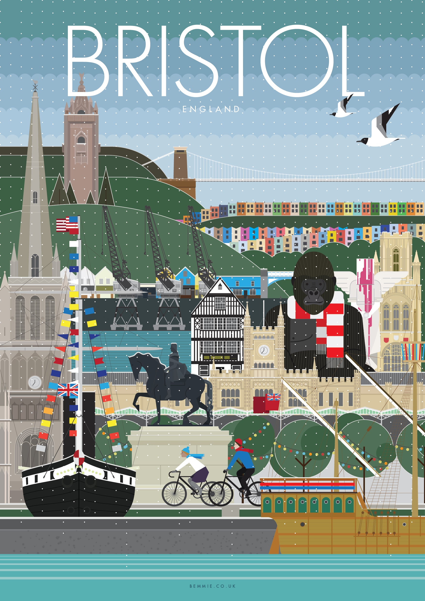 Winter in Bristol Print - BemmiesBazaar