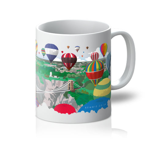Bristol hot air balloons mug