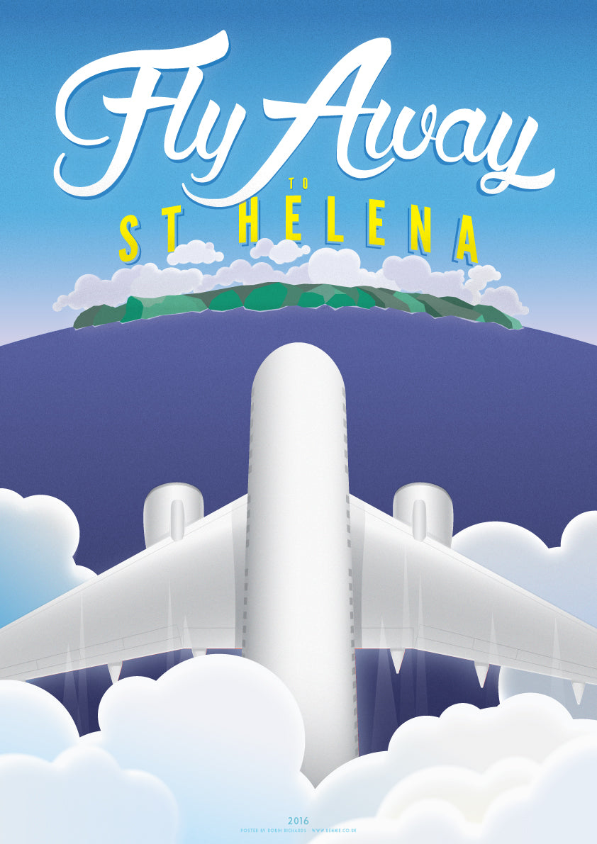 Fly Away to St Helena Print - BemmiesBazaar