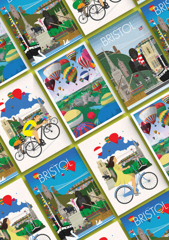 Bristol Greetings Cards (Set of 5) - BemmiesBazaar