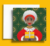 Black Christmas cards | Ethnic Christmas Cards | African Christmas Cards | Black Mrs Claus