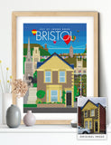 Personalised custom Bristol house print