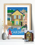 Personalised custom Cardiff house print