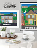 Personalised custom Swindon house print
