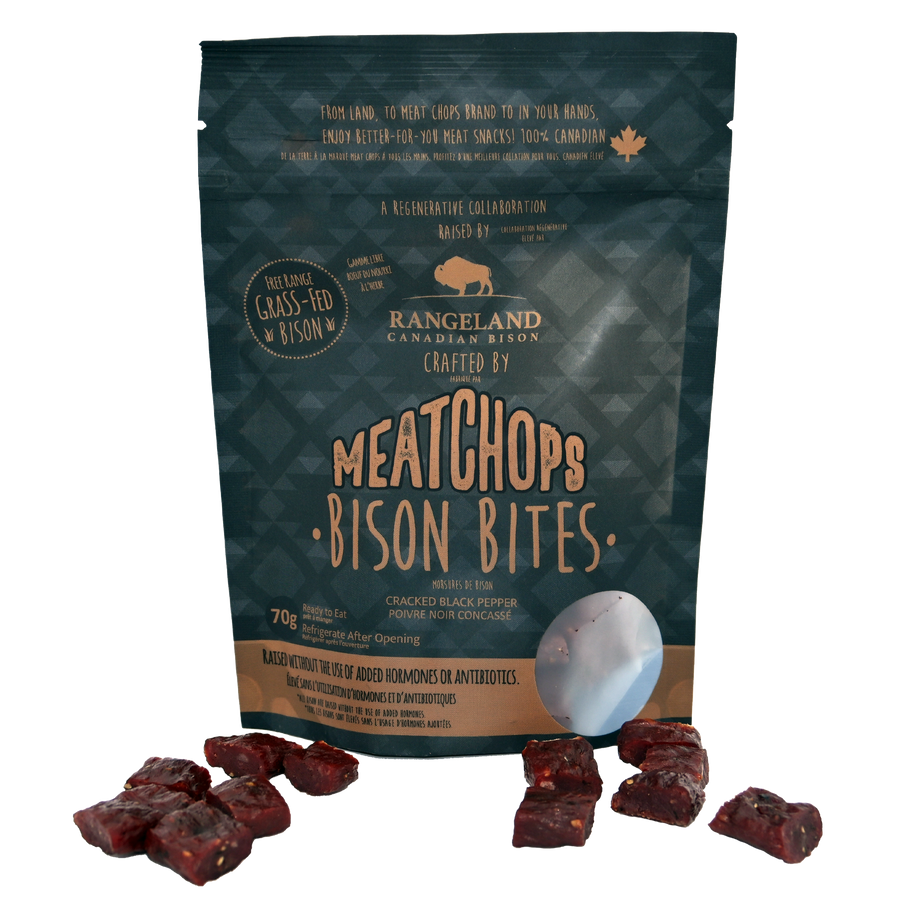 NEW Bison Bites! Grassfed 100% Canadian Raised & Made