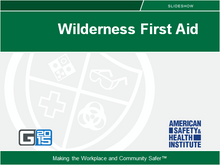 Wilderness First Aid Course - ASHI certification