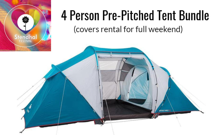 Pre-Pitched In Exclusive Area - Four Person Camping Bundle (Full Weekend Rental at Stendhal)