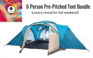 Pre-Pitched in Exclusive Area - Six Person Camping Bundle (Full Weekend Rental at Stendhal)