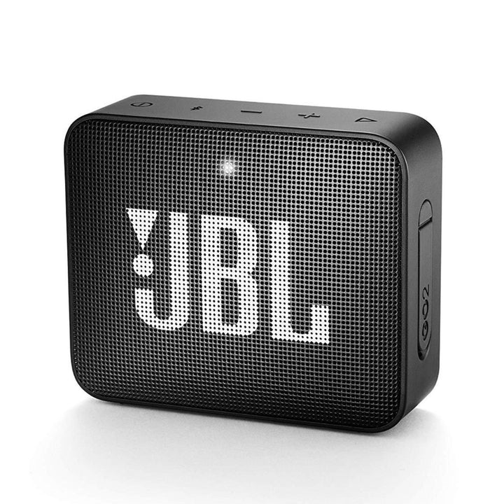 Front view of JBL GO2 bluetooth speaker