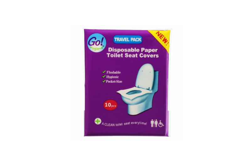 Flushable Paper Toilet Seat Covers (Purchase for Stendhal Festival)