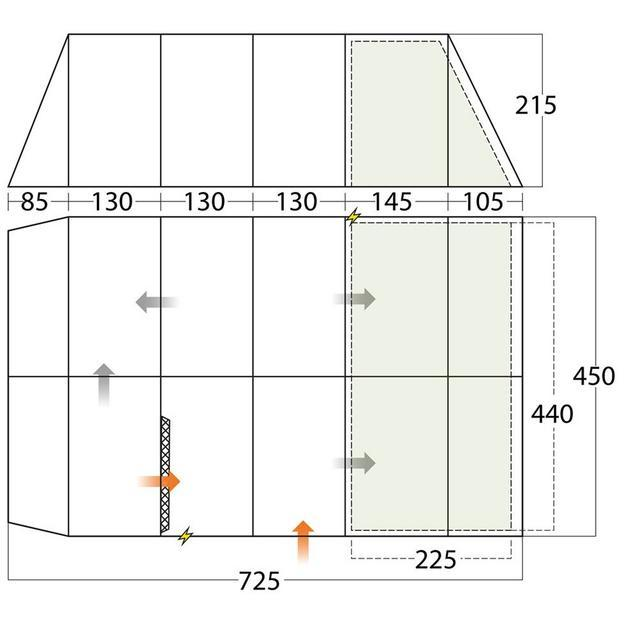 Layout view of tent