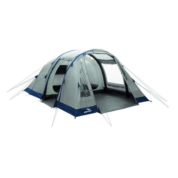 Front view of 5 person mid-size air tent