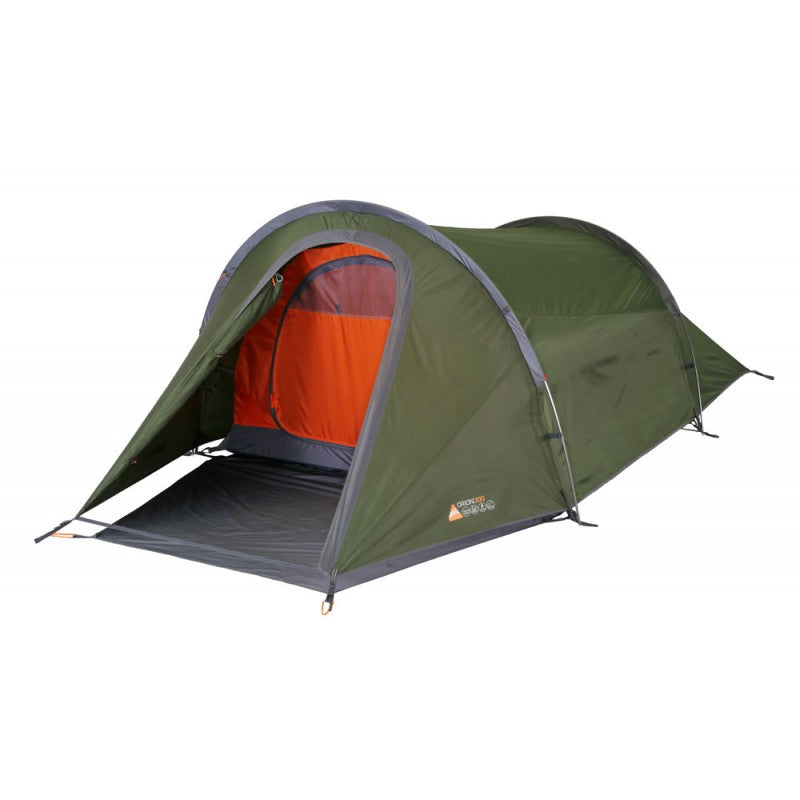 Front view of 3 person hiking tent