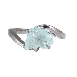 iprecious-creations - Real Raw Aquamarine Ring, Rough Aquamarine Ring, 2.00 Carat Uncut Aquamarine Ring, Anniversary Ring, Engagement Ring, Wedding Ring -