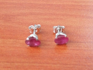 iprecious-creations - 1.00+ Carat Ruby Earrings - Natural Ruby Earrings - Oval Cut Ruby Earrings - Genuine Ruby Earrings - Real Rubies - Ruby Studs - Real Rubies - Jewelry