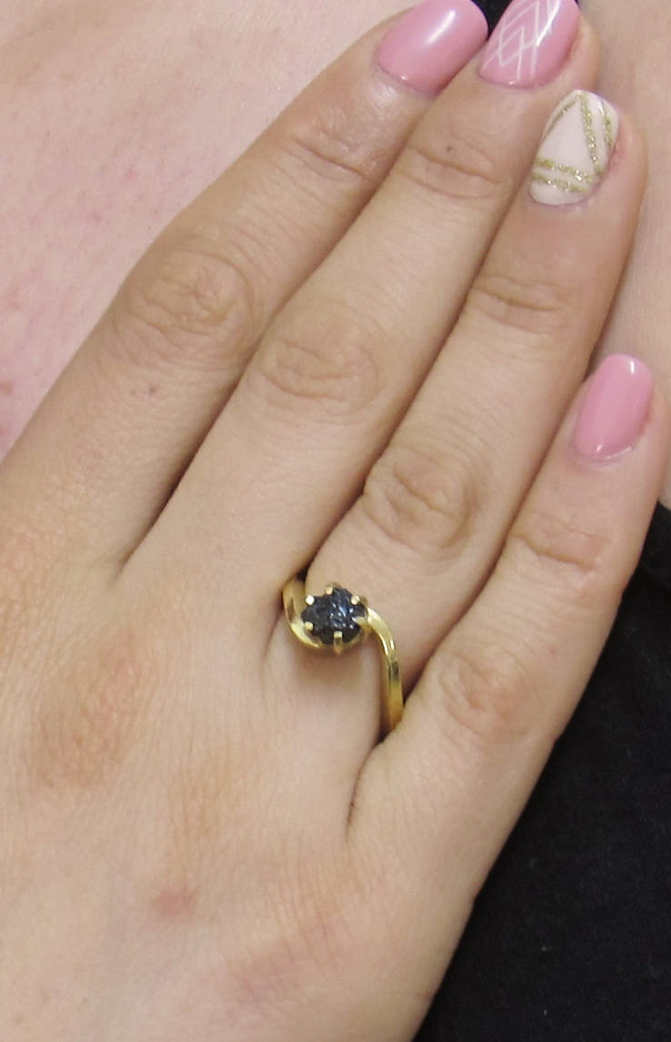iprecious-creations - Real Black Diamond Ring, Rough Diamond Ring, 1.50 Carat Uncut Diamond Ring, Black Diamond Ring, Raw Black Diamond Ring, Engagement Ring -