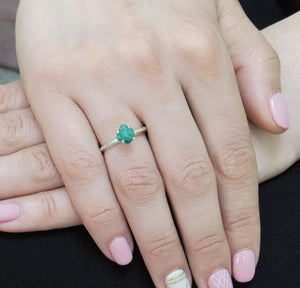 iprecious-creations - Raw Emerald Ring, Rough Emerald Ring, 1.00+ Carat Uncut Emerald Ring, Anniversary Ring, Engagement Ring, Wedding Ring, Colombian Emerald -