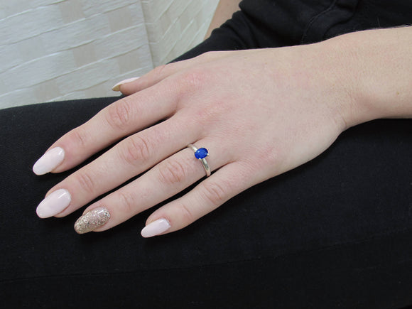 Blue Sapphire Ring, Rare Blue Sapphire Engagement Ring, Natural Sapphire Ring, Anniversary Ring, Promise Ring, 1.42 Carat Real Sapphire