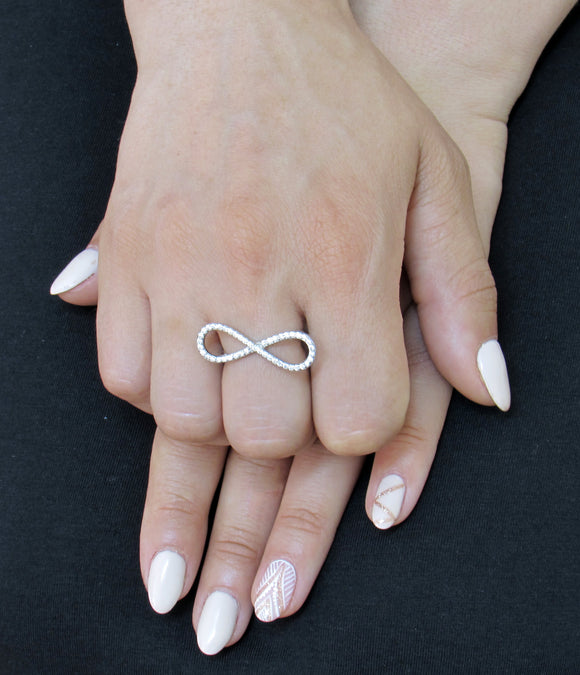 Infinity Ring, Silver Ring, Eternity Ring, Gift for Her, Anniversary Gift