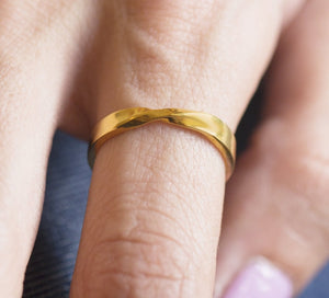 iprecious-creations - Mobius Ring, Solid Gold Mobius Ring, 10k Mobius Gold Ring, 14k Mobius Ring, Mobius Band, Wedding Mobius Ring, Wedding Ring, Twist Band Ring - Jewelry