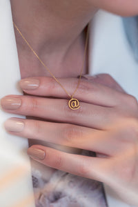 iprecious-creations - Cute 14K Solid Gold Necklace , Gold @ Necklace, Genuine Gold Pendant , Gold Gift , Gold Pendant , Layering Necklace, Internet Pentand - Necklace