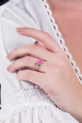 iprecious-creations - Real Tourmaline Ring, 2.00+ Carats Pink Tourmaline Ring, Rough Tourmaline Ring, Engagement Ring, Raw Rose Tourmaline, Natural Tourmaline - Ring