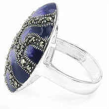 iprecious-creations - Limited Edition Ring, Sterling Silver Ring , Enamel Ring, Marcasites Ring, Pop Art Ring, Unique Jewelry - Jewelry