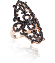 iprecious-creations - Sterling Silver 18K Rose Gold Vermeil Arabesque Ring -