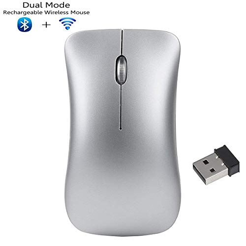 e4491cae95c8 Awxlumv Weyes Mouse,Wireless 2.4GHz and Bluetooth 4.0 Dual Mode Rechargeable
