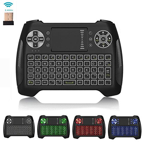 0c9ceaa9ca3 [LED Backlit] Wireless Mini Keyboard Touchpad Remote Control Air Mouse  Multimedia Keys,RC16
