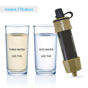 Water Filter Straw Survival Tool