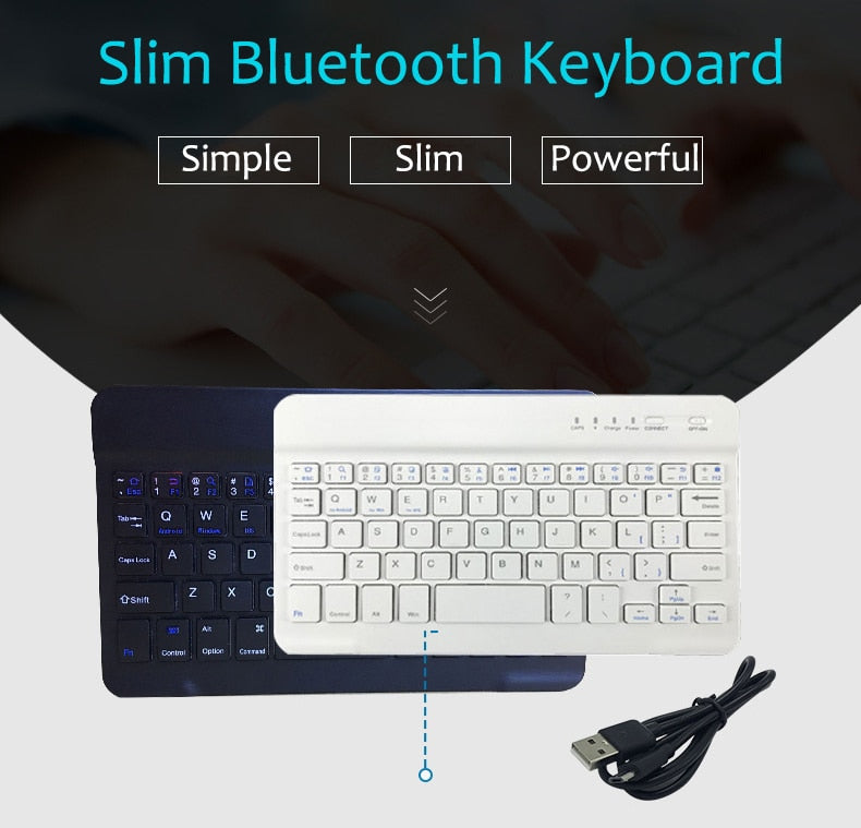 Slim Portable Mini Wireless Bluetooth Keyboard For Tablet Laptop Smartphone iPad Support IOS Android Phone Russian Spanish