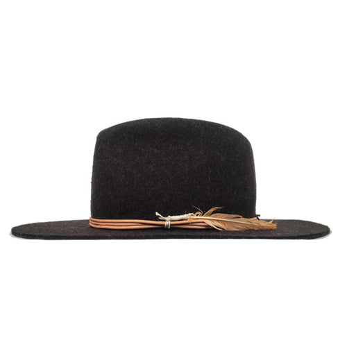 Camden Fedora Brown Black Heather