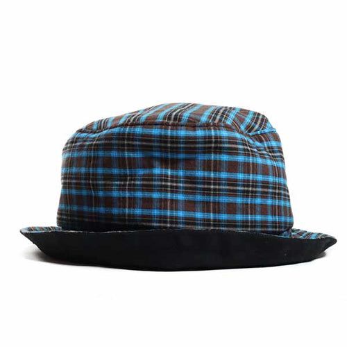 Blue Check Bucket Hat