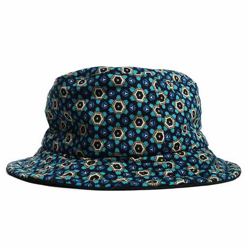 Blue Geo Bucket Hat