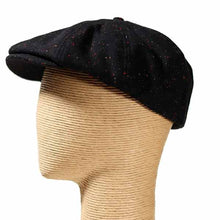 Load image into Gallery viewer, Newsboy - Fleck Wool Mix Black