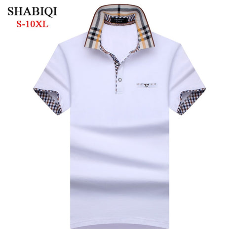 9e8f9527c8f8 Men Polo Shirt Hot New plaid Summer Fashion classic casual tops Short  Sleeves Famous Brand Cotton