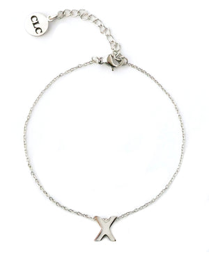 The C • L • C Stainless Steel X Charm Bracelet