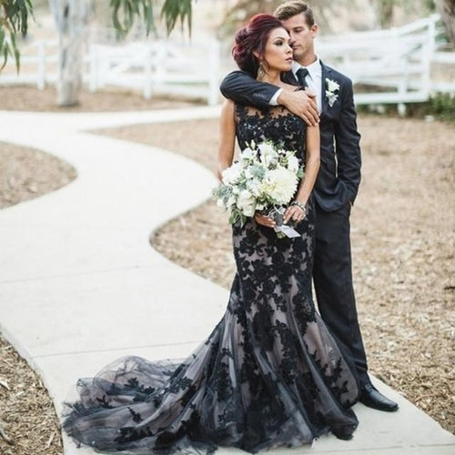 Aveline Black Plus Size Wedding Dress - Mondainé Bridal Studio