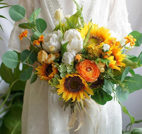 Filia Yellow Sunflower Bridal Bouquet - Mondainé Bridal Studio