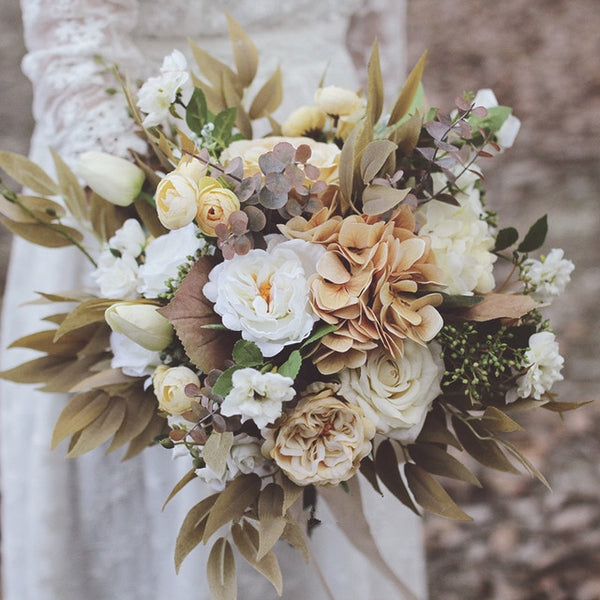 Fall Neutrals Bridal Bouquet - Mondainé Bridal Studio