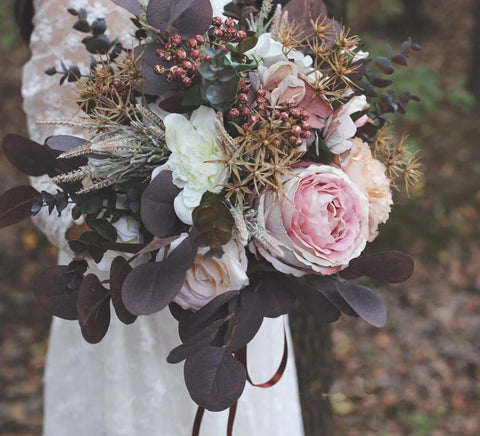 Autumn Chocolate Bridal Bouquet - Mondainé Bridal Studio