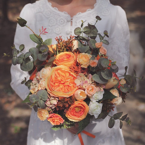 Delice Orange Fall Bouquet - Mondainé Bridal Studio