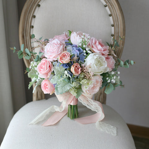 Pink Rose Bridal Bouquet - Mondainé Bridal Studio