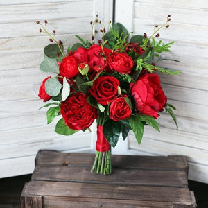 Red Rose Wedding Bouqet.Red Rose Wedding Bouquet