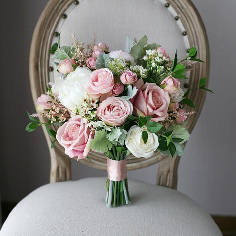 Blush Pink Bridal Bouquet - Mondainé Bridal Studio